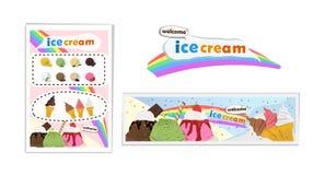 Crème glacée de bannière Photos libres de droits