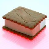Crème glacée de biscuit Image libre de droits