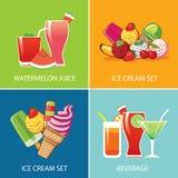 Crème glacée de boisson et pour l'été Images libres de droits