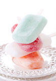 Crème glacée de couleur Photos stock