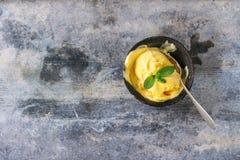 Crème glacée de mangue Photographie stock