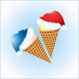 Crème glacée de nouvelle année Photos stock