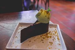 Crème glacée de pistache photographie stock