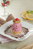 Crème glacée de souffle Photographie stock