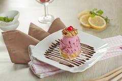 Crème glacée de souffle Images libres de droits