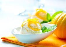 Crème glacée faite maison Image libre de droits