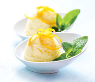 Crème glacée faite maison Images libres de droits