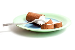 Crème glacée du plat Photos libres de droits