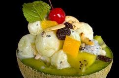 Crème glacée en melon frais Images stock