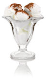 Crème glacée en verre photos libres de droits