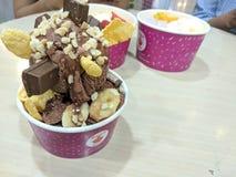 Crème glacée et fruit délicieux HD 2 photo libre de droits