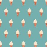 Crème glacée sans couture de modèle cone-3 Photo libre de droits