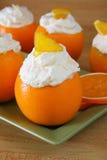 Crème orange de Chantilly Photographie stock libre de droits