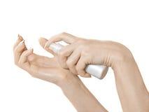 Crème pour des mains Images libres de droits