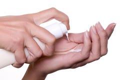 Crème pour des mains Image stock