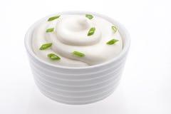 Crème sure photo stock