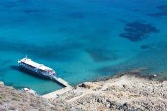 crète Mer Forteresse sur l'île de Gramvous Photo stock