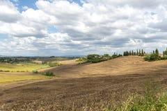 Crète Senesi (Toscane, Italie) Image libre de droits