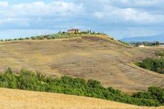 Crète Senesi (Toscane, Italie) Photos stock