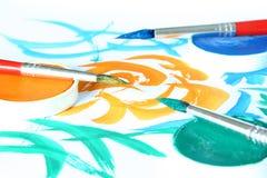 Créateur - balai et couleur Photo stock