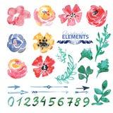 Créateur floral de guirlande d'aquarelle illustration libre de droits