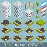 Créateur isométrique de carte d'éléments Photo libre de droits
