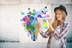Créatif commencez le concept Image stock
