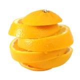 Créatif composez l'orange navel de glissière images stock