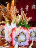 Création artistique des sushi Image libre de droits