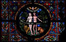 Création d'Adam et d'Eve image stock