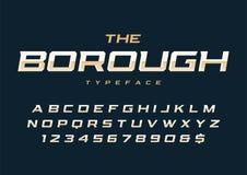 Création de fonte à la mode d'affichage de ville la rétro, alphabet, oeil d'un caractère illustration de vecteur