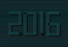 création de fonte 2016 Illustration de Vecteur