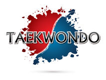 Création de fonte du Taekwondo illustration libre de droits