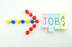 création de nouveaux emplois Photo stock