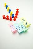 création de nouveaux emplois image libre de droits