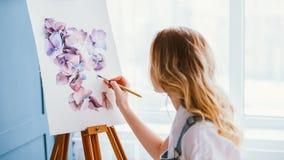 Création de talent de passe-temps de peinture de mode de vie d'artiste images libres de droits