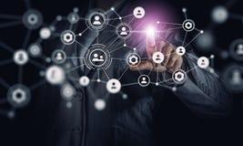 Création des technologies du sans fil Media mélangé Photo libre de droits
