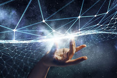 Création des technologies pour la connexion Media mélangé Photos stock
