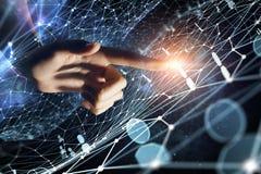 Création des technologies pour la connexion Media mélangé Photographie stock libre de droits