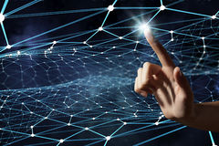 Création des technologies pour la connexion Media mélangé Photo stock