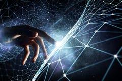 Création des technologies pour la connexion Media mélangé Image libre de droits