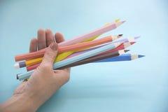 Créativité Art Paper Concept de conception de dessin au crayon de couleur images libres de droits