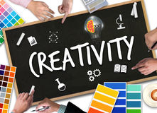 CRÉATIVITÉ créatine de pensée créatif et d'innovation de conception de processus photographie stock