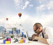 Créativité d'un architecte photo stock