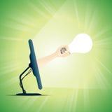 Créativité en ligne illustration stock