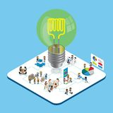 Créativité et équipe illustration stock