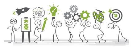 Créativité et séance de réflexion - illustration de vecteur illustration de vecteur