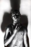 Créativité. Homme noir et blanc de mode - torse de platine Images stock