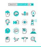 Créativité, imagination, résolution des problèmes, puissance d'esprit et plus P illustration stock