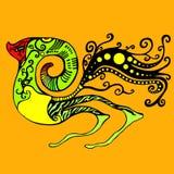 Créature étrangère, fond orange d'isolement Illustration Libre de Droits
